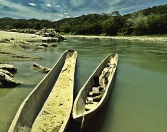 Pirogues, Usumacinta River, Chiapas, Mexico