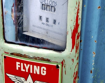 Old Flying-A Gas Pump