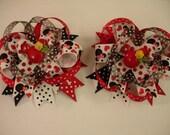 Minnie Mouse hair bows.