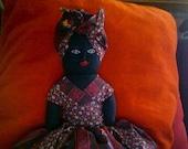 Vintage Topsy Turvey Doll Ebony and Ivory African