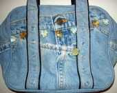Vintage Denim Levi's Jeweled Handbag