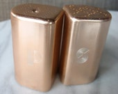 Pink Anodized Aluminum Salt and Pepper Shakers