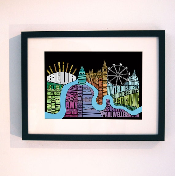 London Music Type Print multicoloured
