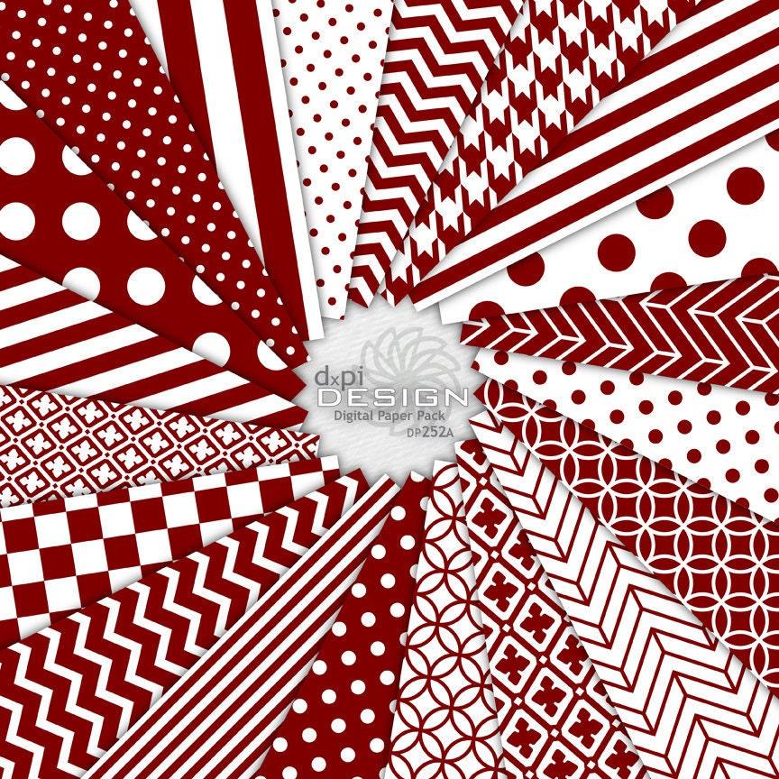 Maroon White Wallpaper Maroon Digital Paper And