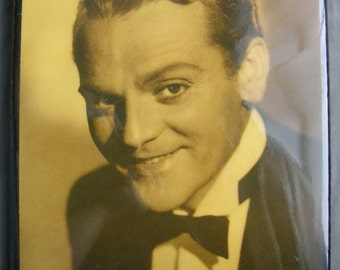 Vintage brown sepia shellaced on wood JAMES CAGNEY photo - ready to hang OOAK