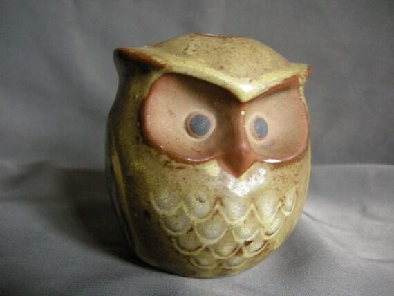 Vintage big eyed owl figurine