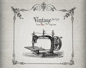 Etsy Shop Banner - Vintage Sewing Machine & Linen Etsy Shop Banners