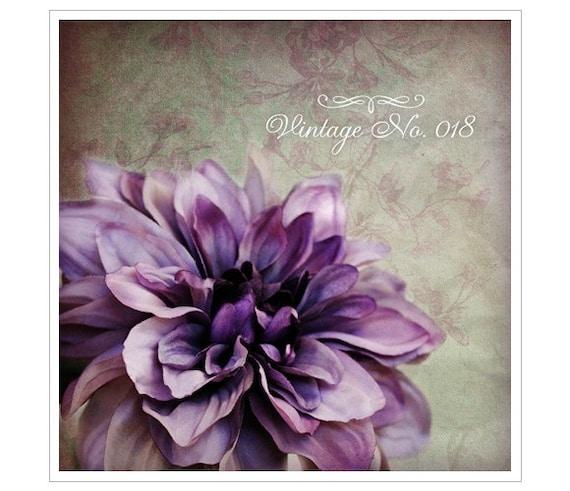 Etsy Shop Banner Design - Vintage Purple Flower And Patterned Wall Paper Etsy Shop Set