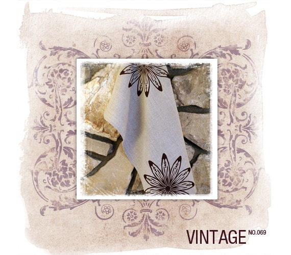 Vintage Etsy Banner Shop Set - Watercolor Victorian Ornament And Your Product Photo