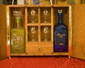 Napoleon's Necessities, absinthe and gin case hand built