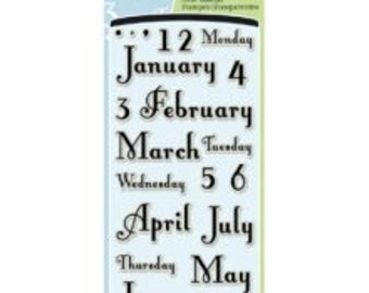 Inkadinkado Months & Days Clear Acrylic Stamps - 97732