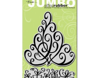 Jumbo Tree and Packages Rubber Stamps by Stampendous