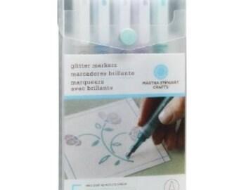 COOL SPECTRUM GLITTER Markers by Martha Stewart
