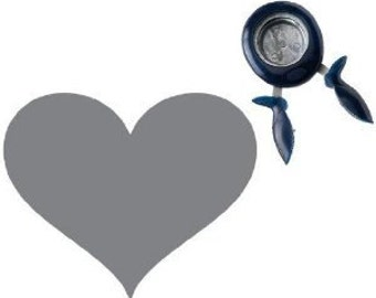 THAT'S AMORE Heart -- LARGE Squeeze Punch by Fiskars