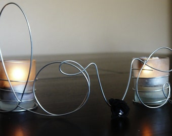 Wire Word Love Centerpiece for Wedding Reception, Votive CandleHolder, Black Flower, Special Occasion, Wedding Table Decoration Standing