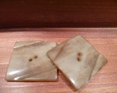 RESERVED GRIS Large Vintage Square Buttons-(c185)