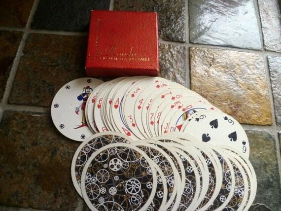 RESERVED LISA Vintage Rondo Circular Playing cards