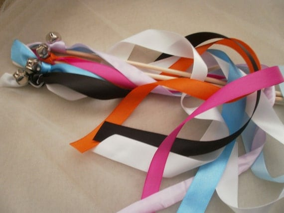 Reserved for Whitney 200  Wedding ribbon wands