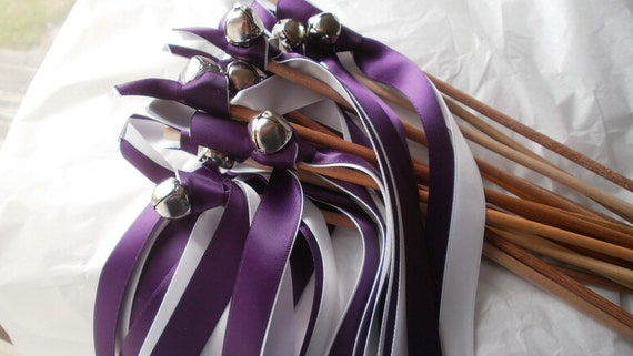 75   Wedding Wands with your choice of (two) Satin Ribbons with a Silver or Gold  bell.