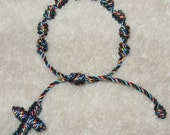 Knotted Cord Catholic Rosary Bracelet (Autism Colors)