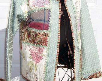 Women's size large quilted sweatshirt jacket