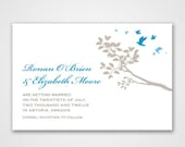 birds of a feather - save the date, wedding invitation, shower or baptism
