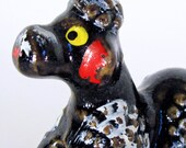 Laying Black Poodle Vintage Dog Collectible Figurine