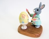 Hallmark Tender Touches Bunny Rabbit Happy Easter Happy Spring Vintage Figurine