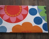 Nappy/Diaper wallet. waterproof lining 'Retro Flowers' Washable