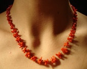 Natural Stick Coral Necklace