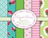 Regal Roses - Digital paper set