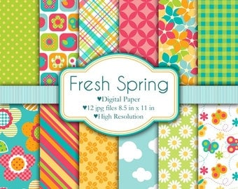 Fresh Spring - Digital Paper Set
