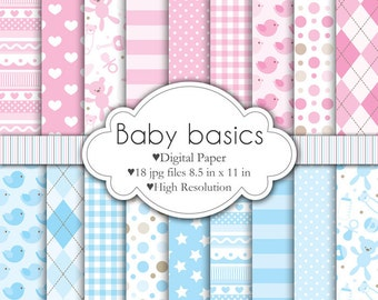 Baby Basics - Digital Paper Set