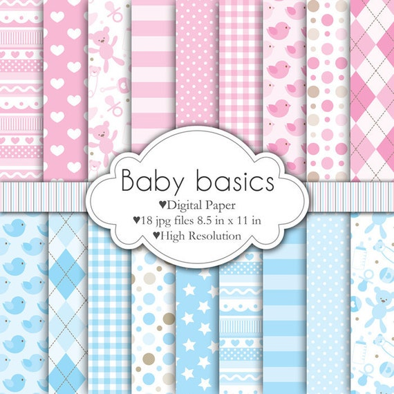 Baby Basics - Digital Paper Set