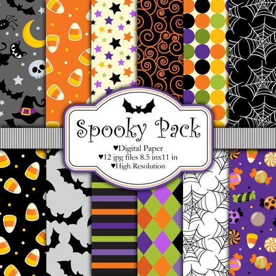 Spooky Pack - Halloween - Digital paper set