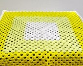 Yellow Granny Square Baby Blanket