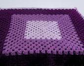 Purple Granny Square Baby Blanket