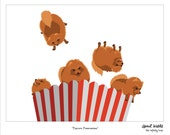 Popcorn Pomeranians 8 X 10 Print