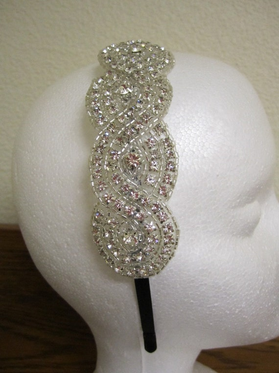 Gorgeous Crystal Rhinestone Headband...Great for Weddings, Special Occasions or Everyday Wear