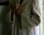 Women's Vintage Cream Coat