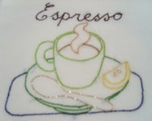 Espresso - Hand-Embroidered Floursack Towel