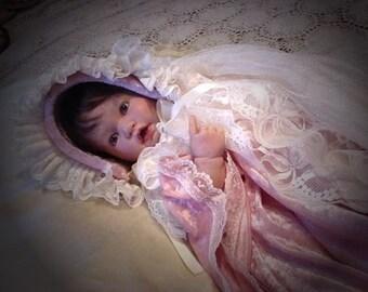 Victorian Style Baby Dress and Bonnet Ensemble