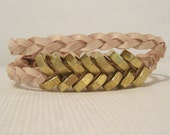 Double wrap Fishbone (Gold/Pale Rose)