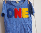 Primary Colors Birthday Tee Organic Shirt Blend perfect for boys or girls all party themes first second third fourth