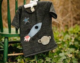 Boys Tee Organic Shirt Blend Rocket Tee Space