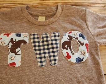 Cowboy Birthday Shirt Organic Blend Birthday Tee Horses Farm first second third birthday