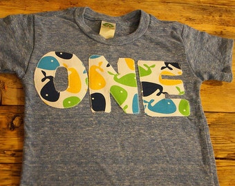 Whale Birthday Shirt Boys Birthday tee perfect for whale fish underwater theme first birthday second etc