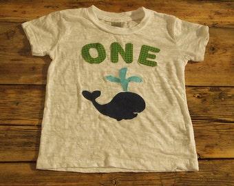 Whale Shirt Nautical Theme Birthday Shirt Boat Tee on White Burnout Boys Birthday Shirt first birthday