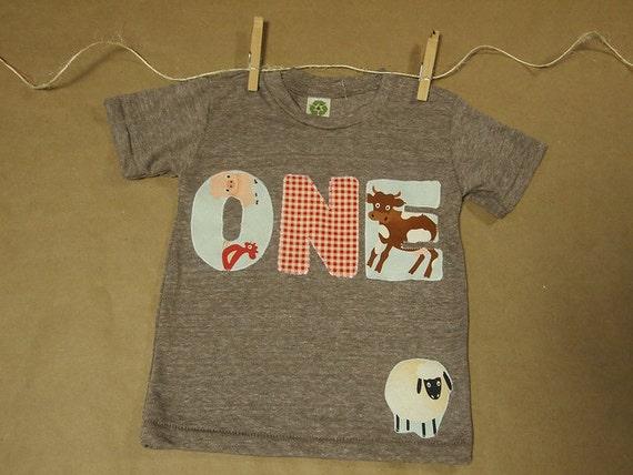 Farm party, farm animal shirt, Barnyard party, Farm Animal Birthday Shirt, Organic Blend perfect for boys and girls, gingham, pig, cow
