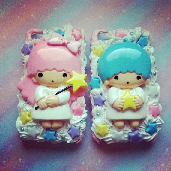 Little Twin Stars Decoden iPhone 4 4S Set